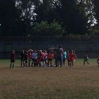 Photo taken at Rugby Rho 1947 by Ruggiero D. on 10/4/2014