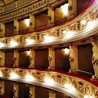 Photo taken at Teatro Domenico Alaleona by Roberta M. on 5/23/2014