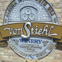 Photo taken at Von Stiehl Winery by Andrew H. on 5/5/2013