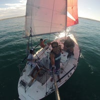 Photo taken at Club Nautico Atlantico Sud by Juan Q. on 2/18/2014