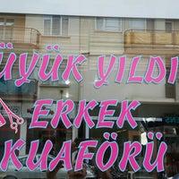 Photo taken at Büyük Yıldız Erkek Kuaförü by Taner T. on 5/27/2014
