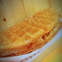 Photo taken at Famous Belgian Waffles by starneverfades on 5/14/2013