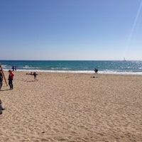 Photo taken at Postiguet Beach by Дмитрий Б. on 3/9/2014