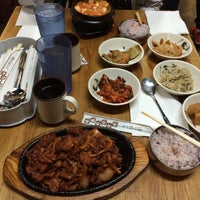 Photo taken at Myung-dong Soft Tofu House Korean Restaurant by Gilberto on 1/18/2016