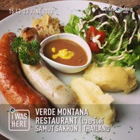 Photo taken at Verde Montana Restaurant by Taweerut S. on 6/23/2013