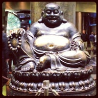 Photo taken at Big Buddah Statue at ARIA by Ben B. on 1/1/2013