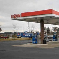 Photo taken at Exxon by Dan G. on 1/30/2014
