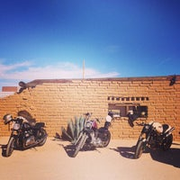Photo taken at Pappy & Harriet's Pioneertown Palace by Moto L. on 10/4/2014