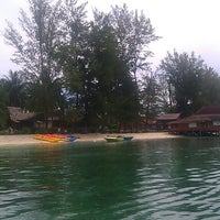 Photo taken at Derawan Beach Cafe & Cottage by firman f. on 5/17/2013