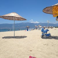 Photo taken at Denetko Plajı by Nazlı B. on 7/7/2015
