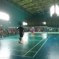Photo taken at Pearl Badminton Court by Aleksandr S. on 10/26/2013