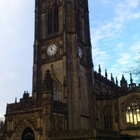 Photo taken at Manchester Cathedral by Anton B. on 4/25/2013