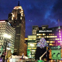 Photo taken at Campus Martius by Ryan F. on 11/5/2012
