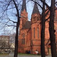 Photo taken at American Church in Berlin by Vasiliy R. on 2/28/2016
