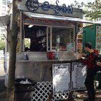 Photo taken at E-San Thai Food Cart by Bryan H. on 8/25/2013
