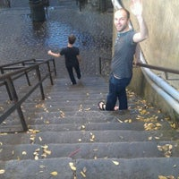 Photo taken at Stairs Of Death by Becky B. on 10/22/2012