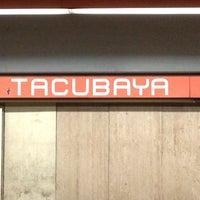Photo taken at Metro Tacubaya by Th C. on 3/16/2013