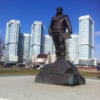 Photo taken at Памятник Водопьянову Михаилу Васильевичу by Alexandra A. on 4/18/2014