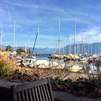 Photo taken at Restaurant du Port de Pully by Gerben K. on 10/19/2014