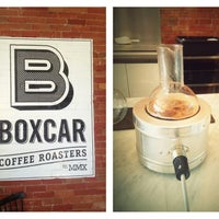 Photo taken at Boxcar Coffee Roasters by Kimberly N. on 11/17/2012