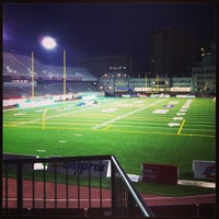 Photo taken at Percival Molson Memorial Stadium by Coco D. on 6/13/2013
