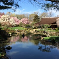 Photo taken at Shofuso Japanese House and Garden by Kirsten P. on 4/18/2015