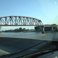 Photo taken at South Sioux City Train Bridge by Jeff J. on 7/22/2013
