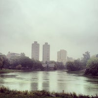 Photo taken at Central Park - Harlem Meer by Kayvon T. on 10/3/2012