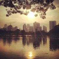 Photo taken at Lumphini Park by Kayvon T. on 12/26/2012