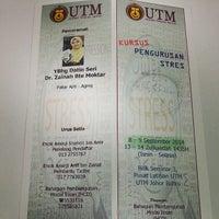 Photo taken at Pusat Latihan UTM Skudai by Mohammed K. on 9/8/2014