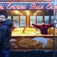 Photo taken at Istanbul Eminonu Balik Ekmek by Emine K. on 1/29/2014