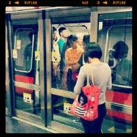 Photo taken at Braddell MRT Station (NS18) by Tobie W. on 10/24/2012