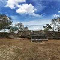 Photo taken at Zona Arqueológica de Dzibilchaltún by Carlota F. on 6/21/2015