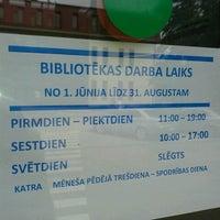 "Photo taken at RCB filiālbibliotēka ""Pārdaugava"" by Roberta E. on 7/27/2013"
