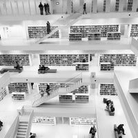 Photo taken at U Stadtbibliothek (Handwerkskammer) by Dominik R. on 1/24/2015