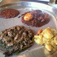 Photo taken at Ras Dashen Ethiopian Restaurant by Chrystal D. on 11/22/2013
