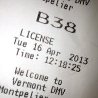 Photo taken at Vermont DMV by Elan A. on 4/16/2013