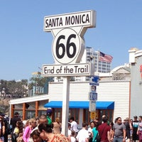 """Photo taken at Santa Monica Route 66 """"End of the Trail"""" by Chris B. on 4/21/2013"""