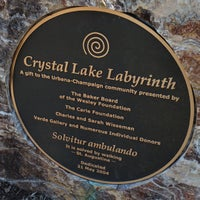 Photo taken at Crystal Lake Labyrinth by Christopher E. on 4/22/2013