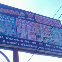 """Photo taken at Double """"D"""" digital printing by Dimaz W. on 9/12/2013"""