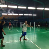 Photo taken at Pro One Badminton Centre by Sepetan D. on 4/25/2017