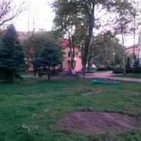 Photo taken at Зупинка «Вулиця Багговутівська» by Rimma L. on 4/26/2014