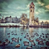 Photo taken at Riverfront Park by Ryan S. on 1/14/2013