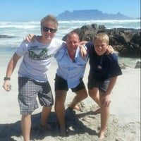 Photo taken at Bloubergstrand by Brendon H. on 12/22/2013
