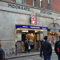 Photo taken at Moorgate Railway Station (MOG) by Brian B. on 10/12/2012