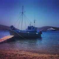 Photo taken at Campi Beach by Alexandros G. on 8/14/2013