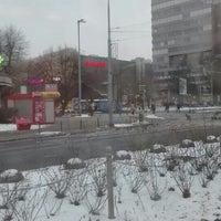 Photo taken at Plac Rodła by Aleksandra on 1/23/2016