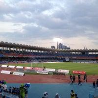 Photo taken at Todoroki Athletics Stadium by まんのじ on 4/10/2013