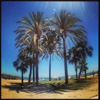 Photo taken at Playa de La Misericordia by CONDE on 6/1/2013
