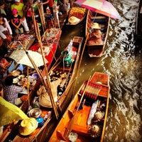 Photo taken at Damnoen Saduak Floating Market by Markus E. on 2/15/2013